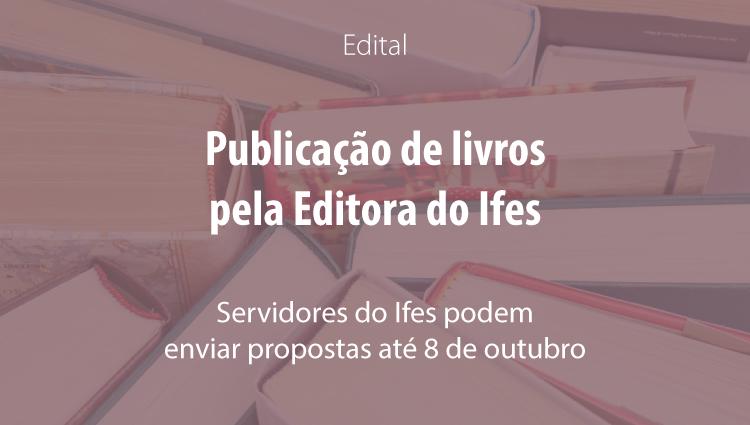 Edital de publicação de livros 2018